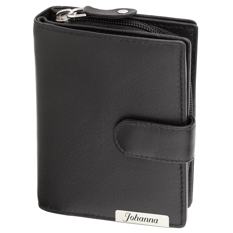 12815a4374b005 Cadenis Portemonnaie aus erstklassigem Rindsleder Individualisiert mit  Ihrem persönlichen Wunschtext als edle Laser-Gravur